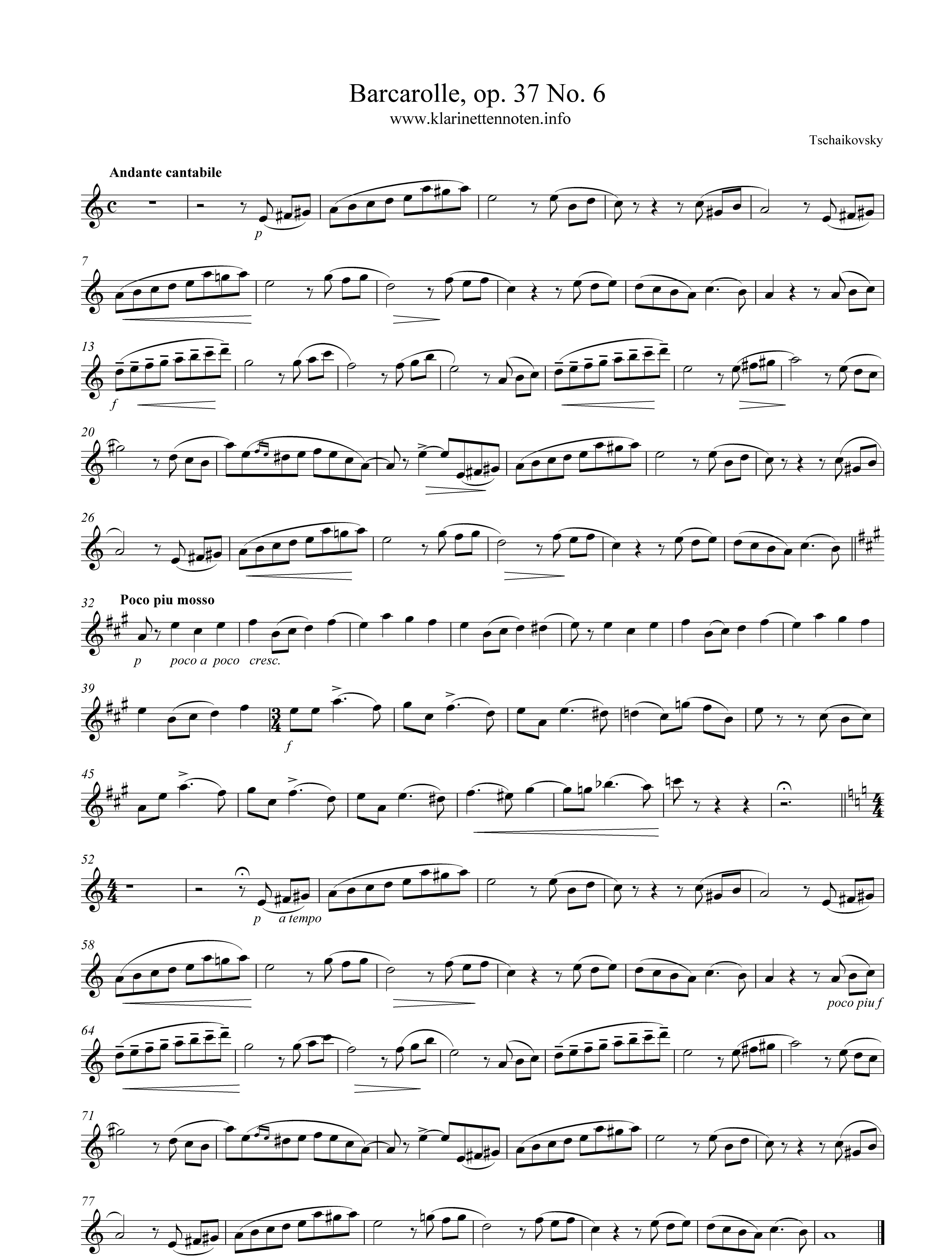 Barcarolle op.37 No.6